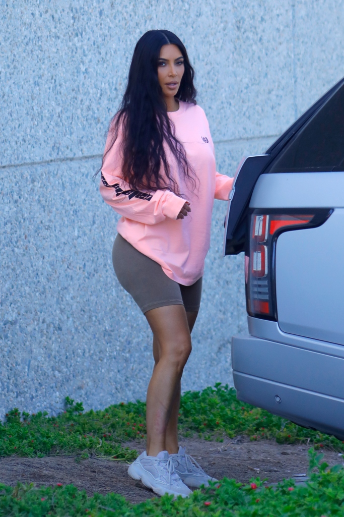 kim kardashian, yeezy, desert rat 500 sneakers