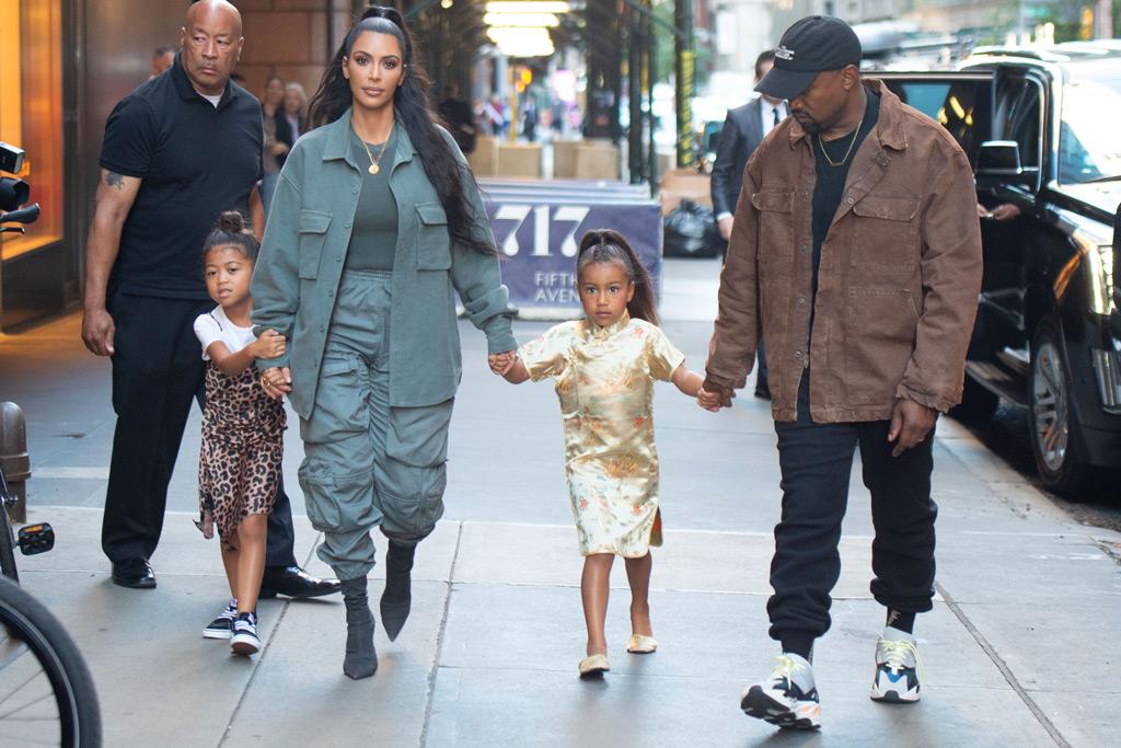 Kim Kardashian, North West and Kanye West, birthday