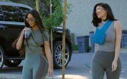 Kim kardashian, kylie jenner, spandex