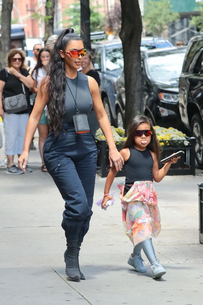 kim kardashian, north west, sunglasses