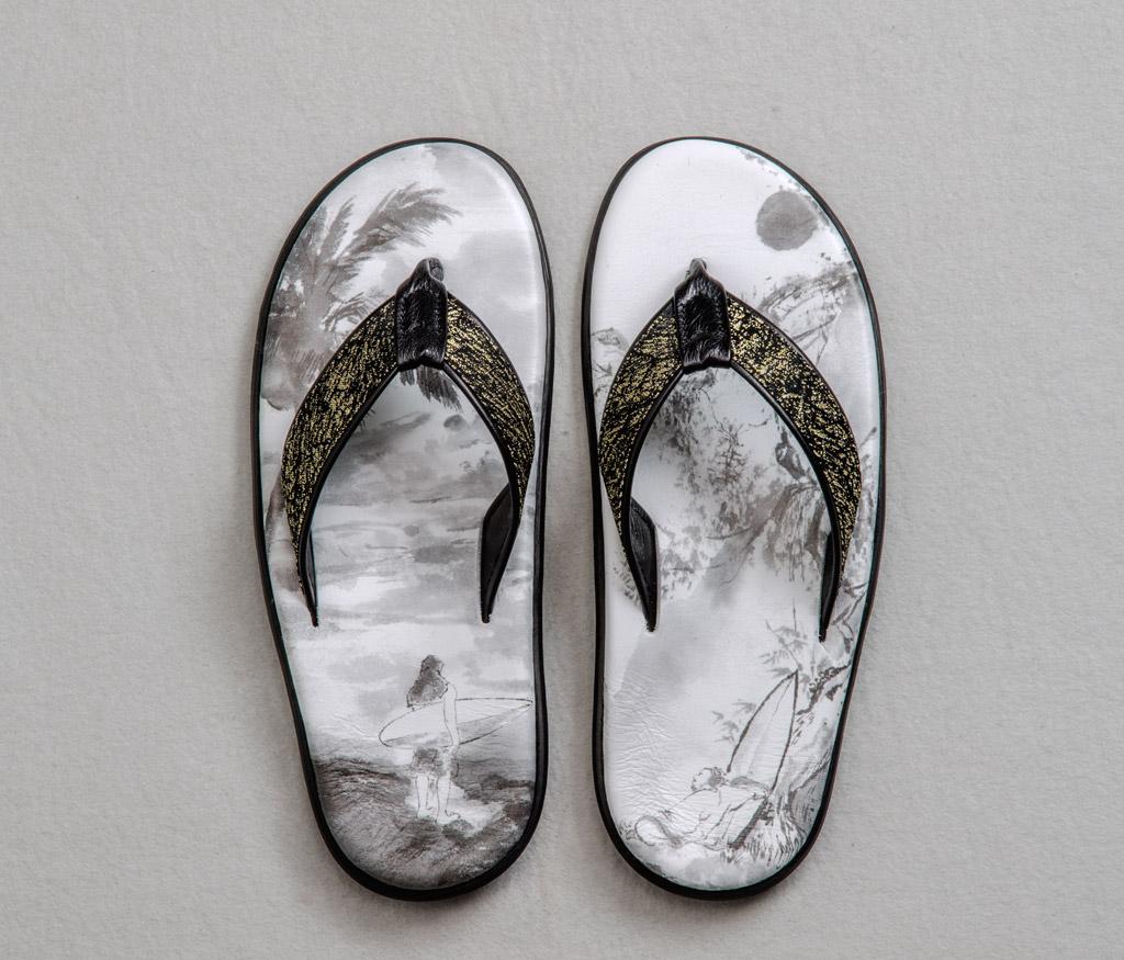 Takashimaya Chiso Tatsumura Island slipper, newark museum kimono refashioned