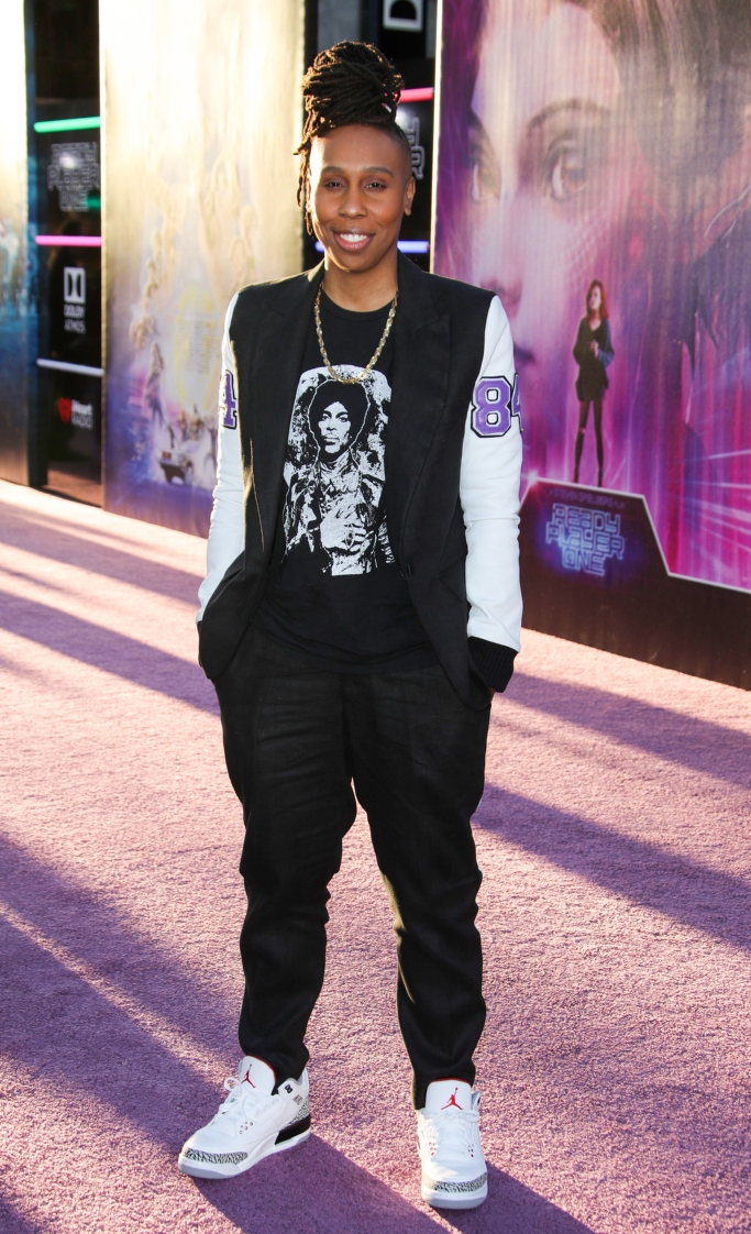 white cement air jordan 3, lena waithe, red carpet