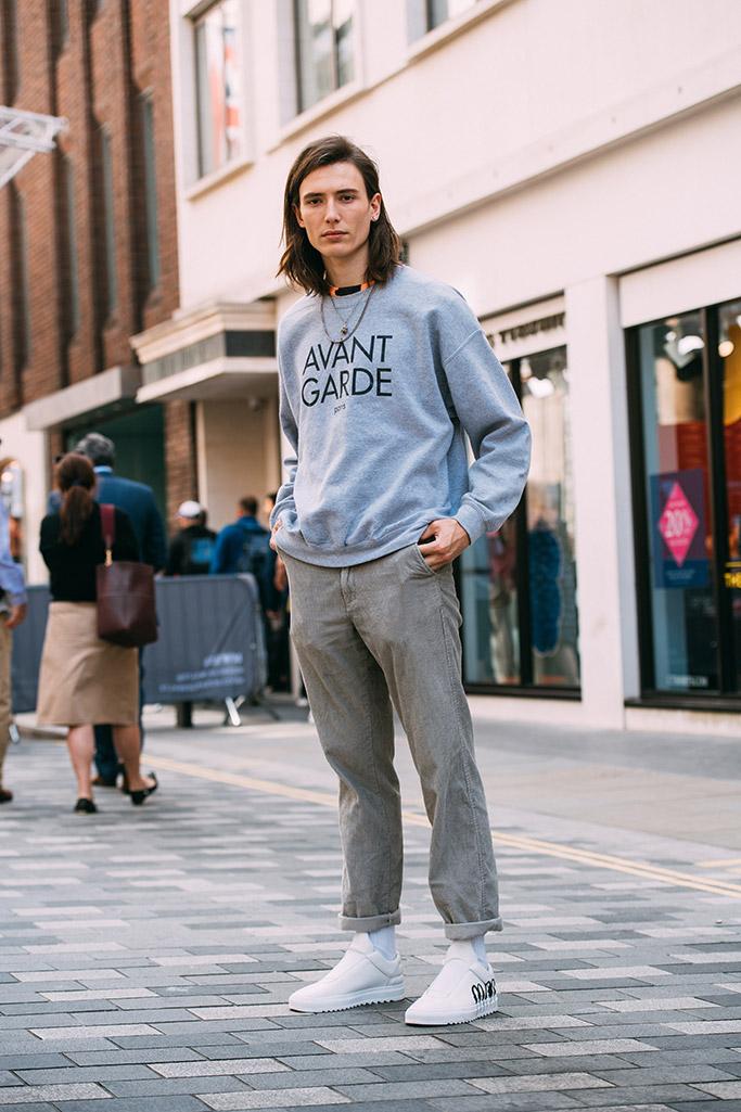 london fashion week men's, spring 2019 street style