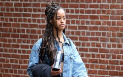 Malia Obama, cat boots, leggings, bra,