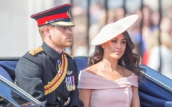 prince harry, meghan markle, trooping the