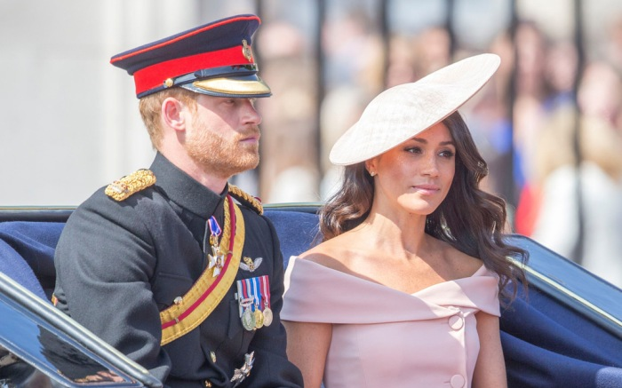 prince harry, meghan markle, trooping the colour