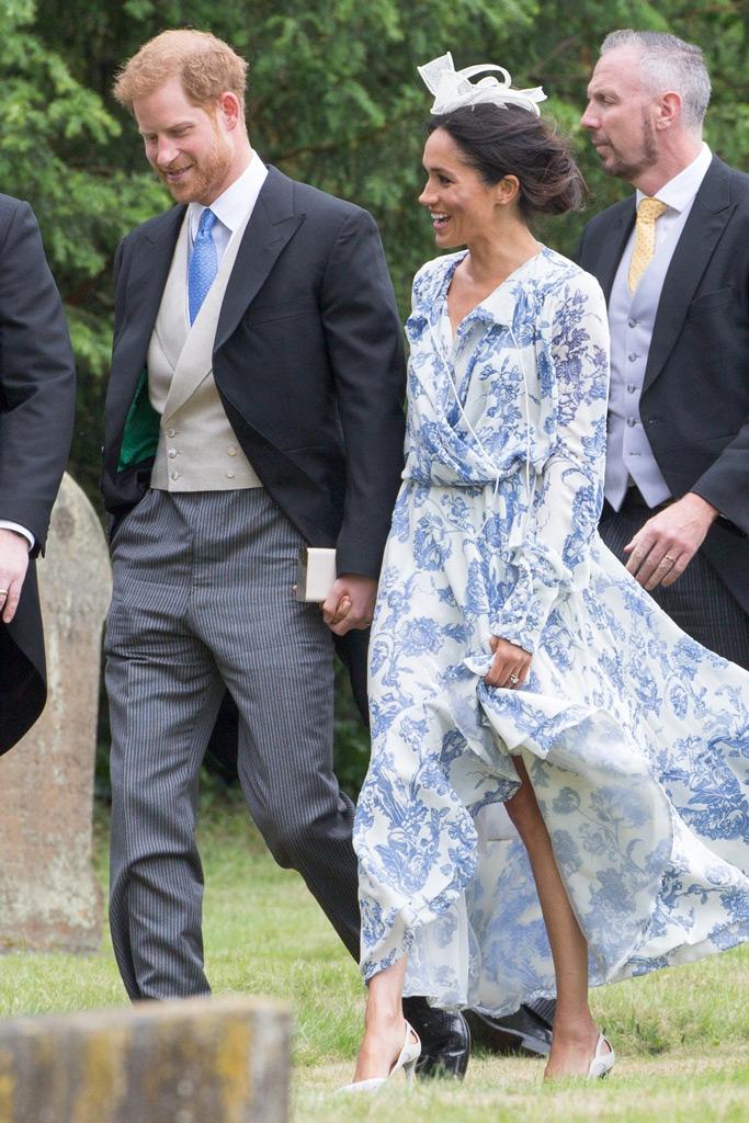 meghan markle, oscar de la renta, aquazzura, wedding, prince harry cousin, princess diana