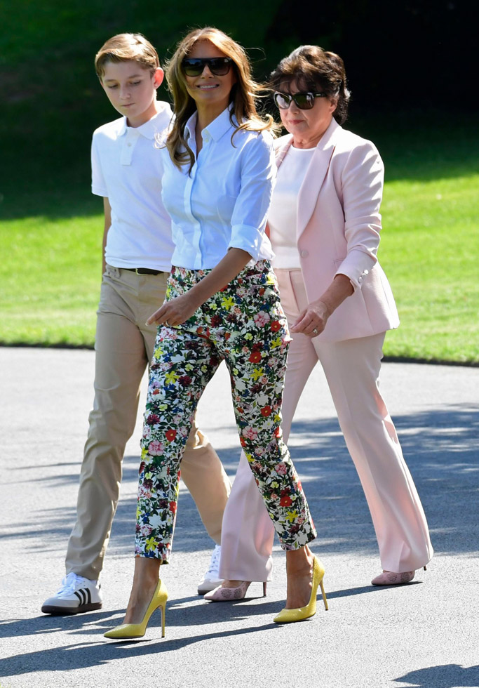 Barron Trump, Melania Trump and Amalija Knavs
