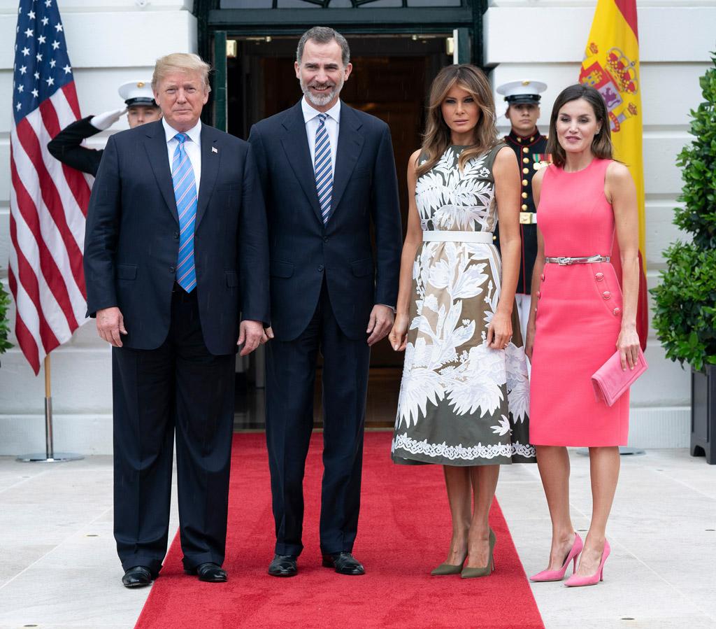 Donald Trump, King Felipe VI, Queen Letizia, Melania Trump