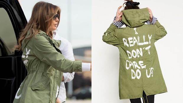 melania trump zara jacket, i dont care