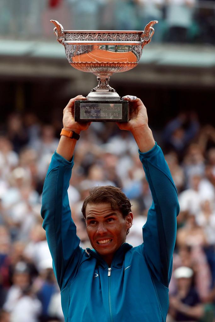 rafael nadal, trophy, french open champ