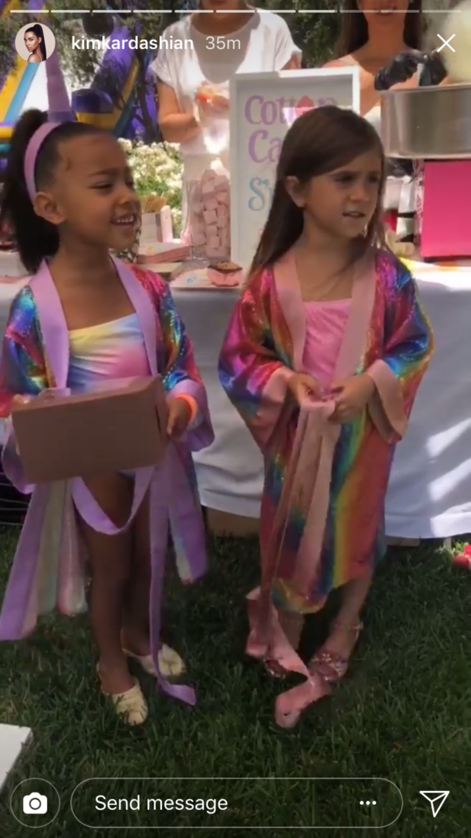 north west and penelope disick birthday party