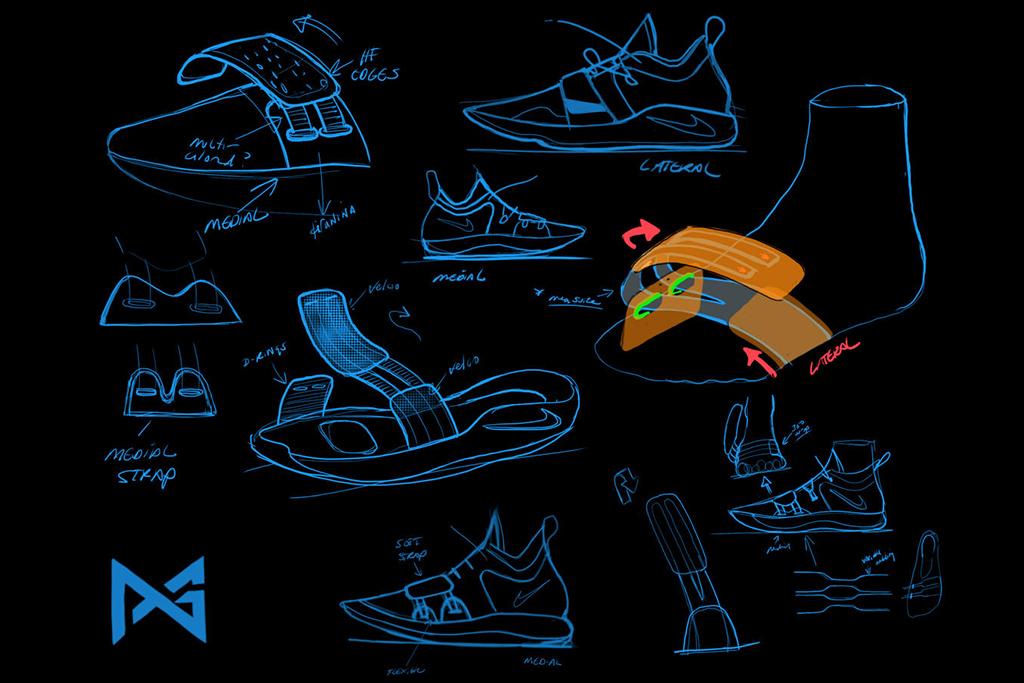 Nike PG 2.5 Design Sketches Tony Hardman