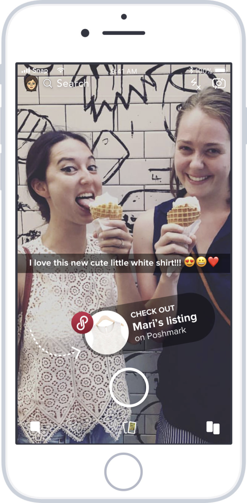 Snapchat features on Poshmark