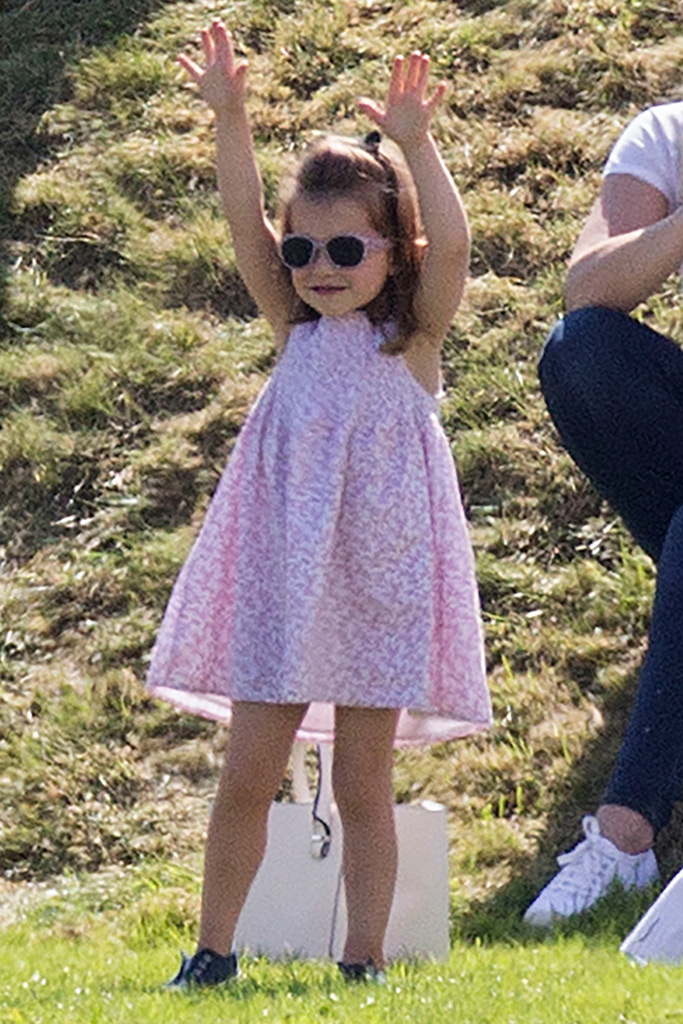 princess charlotte, handstand, polo tournament, kate middleton