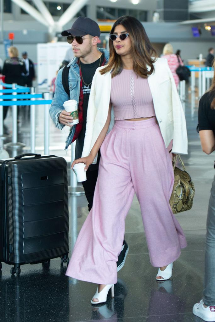 Priyanka Chopra, airport, nick jonas