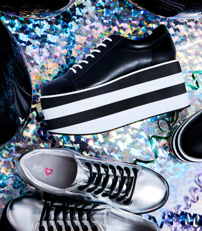 hloe Bartoli capsule collection, acid rock platform sneaker,