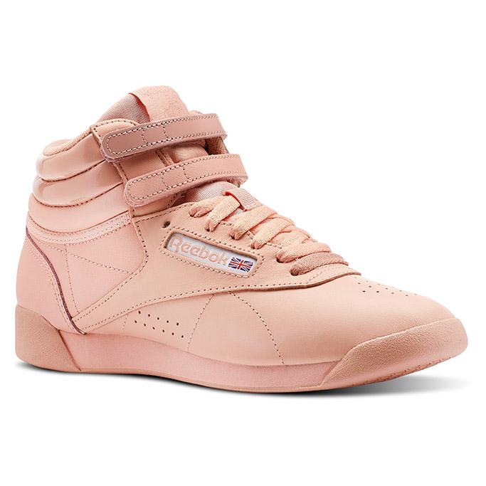Reebok, GLOW, freestyle hi, pink sneaker