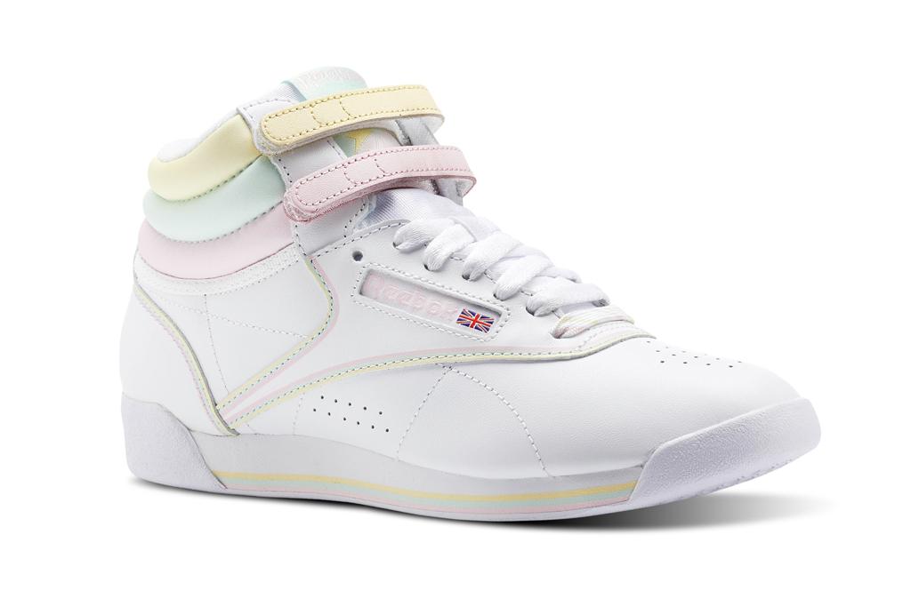 Reebok, GLOW, freestyle hi, white sneaker