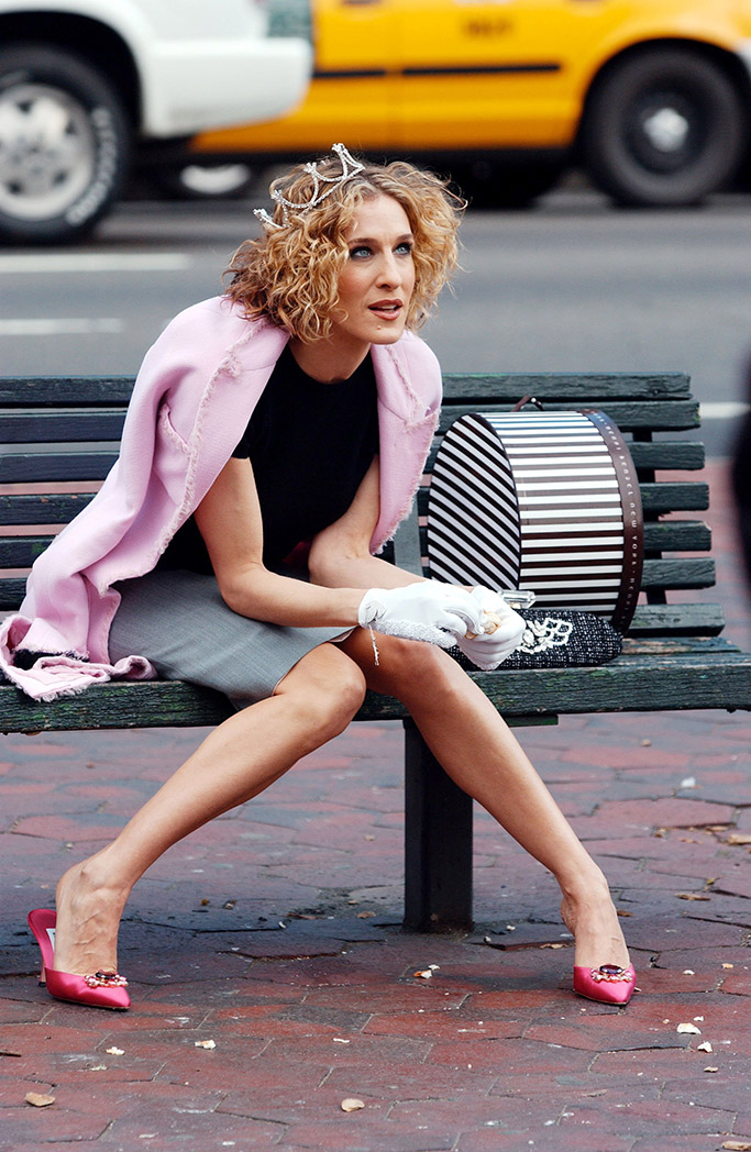 sex and the city, carrie bradshaw, sarah jessica parker, 20 year anniversary, manolo blahnik