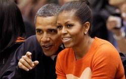 Barack Obama, Michelle Obama, heart sweater