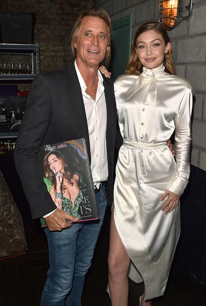 Gigi Hadid, Russell James, Victoria's Secret book launch