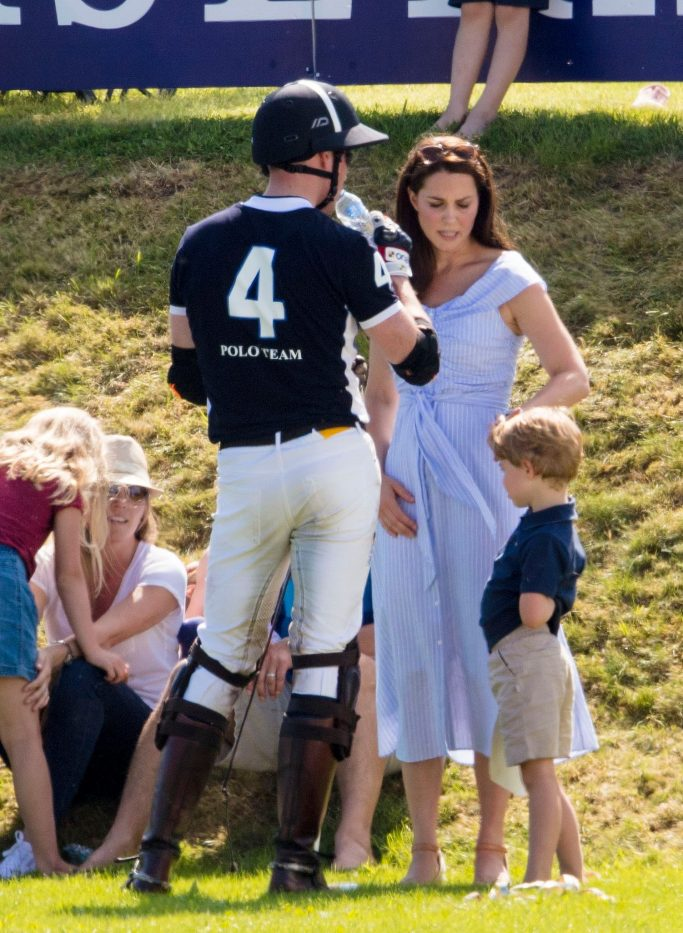 Prince William, Catherine Duchess of Cambridge with Prince George and Princess CharlotteMaserati Royal Charity Polo Trophy, Gloucestershire, UK - 10 Jun 2018