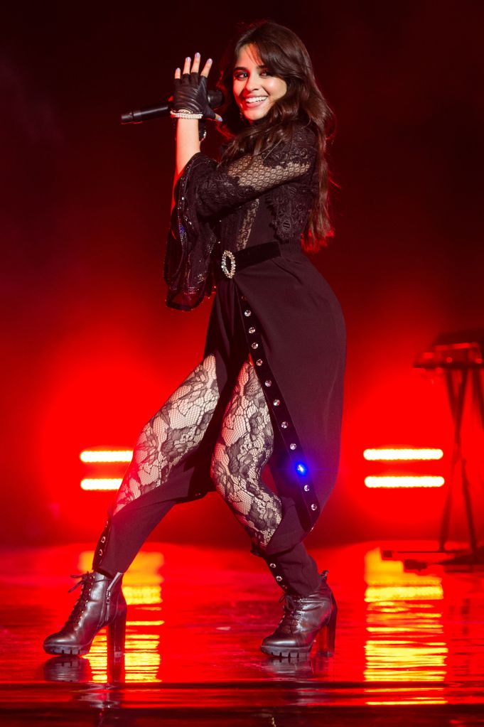 Camila Cabello does London performance in all-black look.