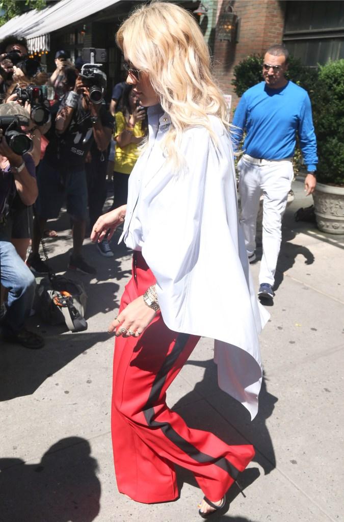 Rita OraRita Ora out and about, New York, USA - 19 Jun 2018 Rita Ora wearing red in New York City