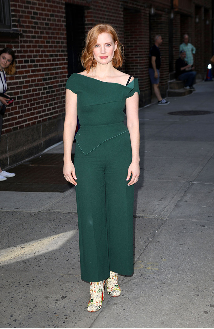 Jessica Chastain, The Late Show with Stephen Colbert