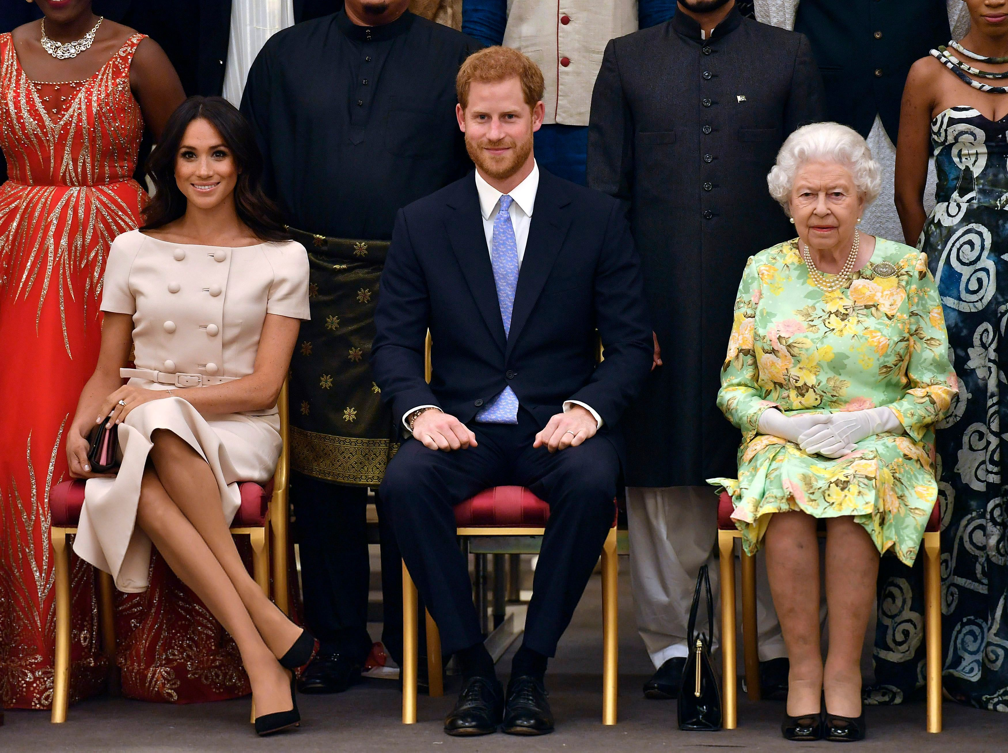 Meghan Markle, Prince Harry, Queen Elizabeth