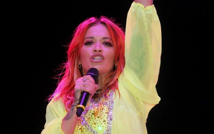 Rita Ora red hair