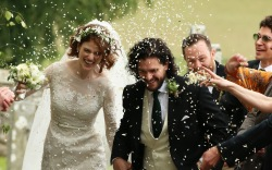 Rose Leslie and Kit Harington, wedding
