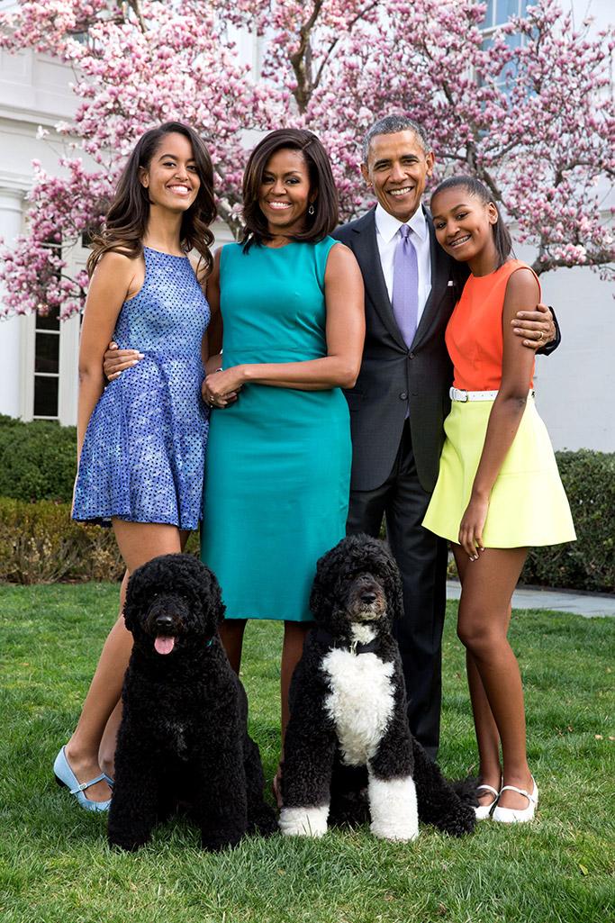 president barack obama, michelle obama, sasha obama, malia obama