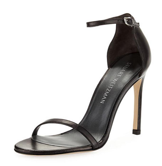 Stuart Weitzman nudist sandals black