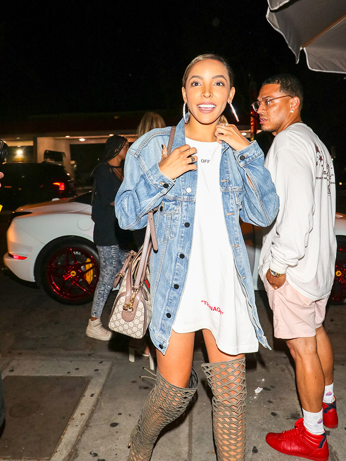 Tinashe, heels, boots, Gucci, Off-White