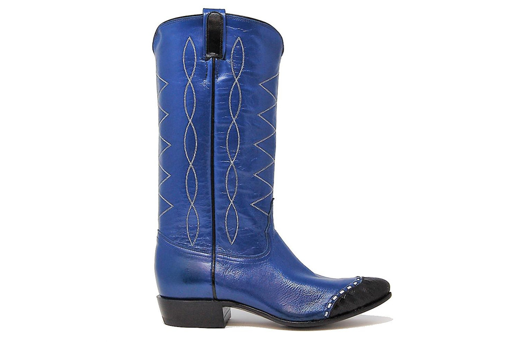 Tony Lama Electric Blue Goat Leather 'MA1013L' Western Boot