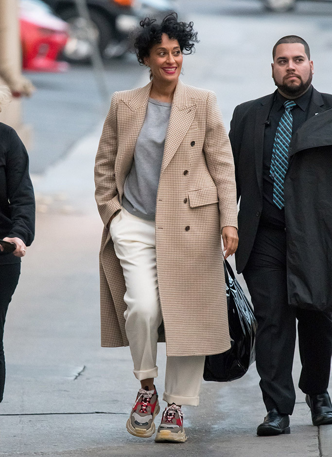 tracee ellis ross, dad shoes trend, dad sneakers