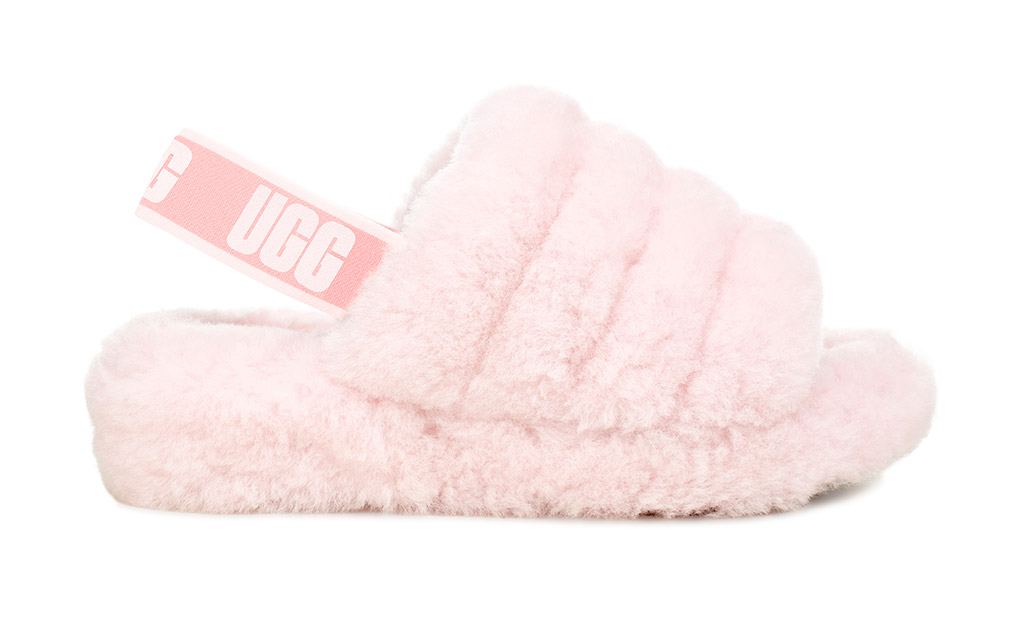 UGG, Fluff Yeah Slide, Seashell Pink