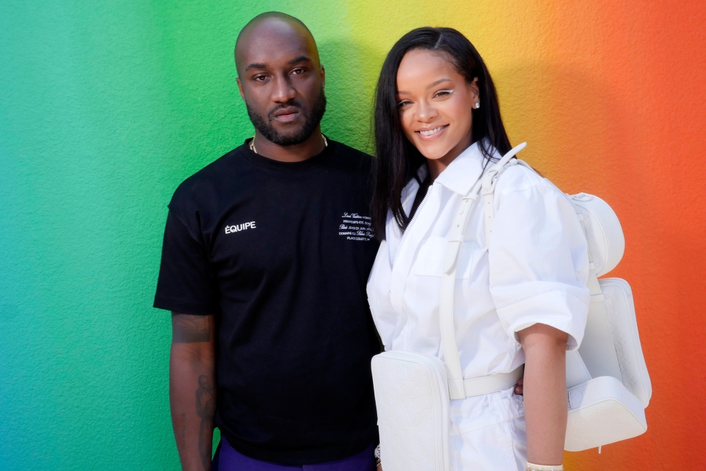 rihanna, virgil abloh, paris men's fashion week, louis vuitton front row