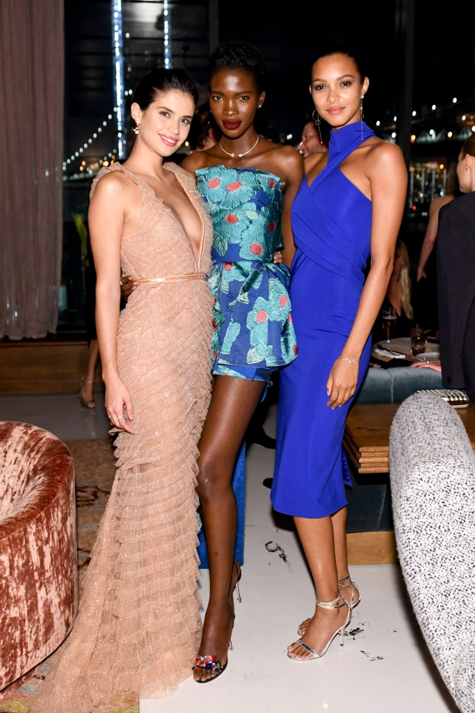 Sara Sampaio, Aamito Lagum and Lais Ribeiro, cfda fashion awards after party