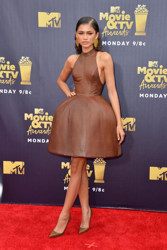 Zendaya , red carpet, mtv movie awards 2018