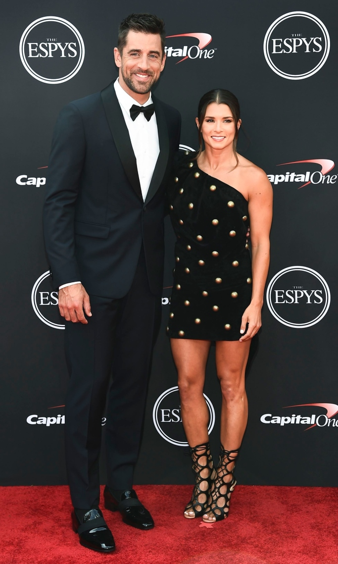 aaron rodgers, danica patrick, red carpet style