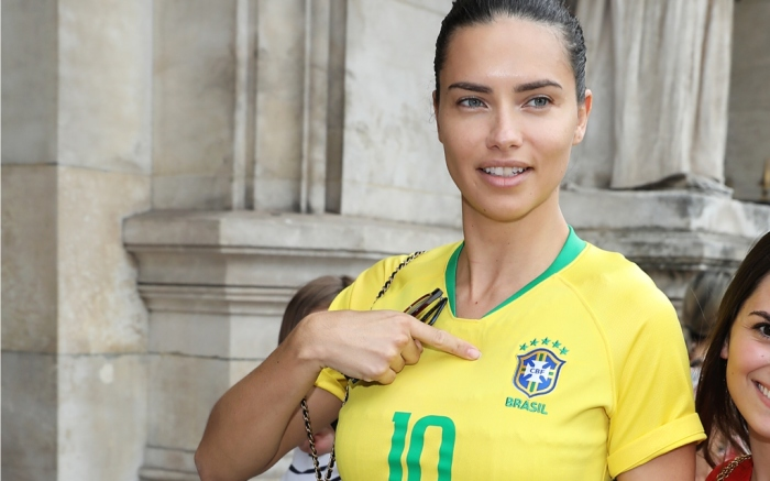 adriana lima, brazil world cup soccer jersey, paris haute couture week