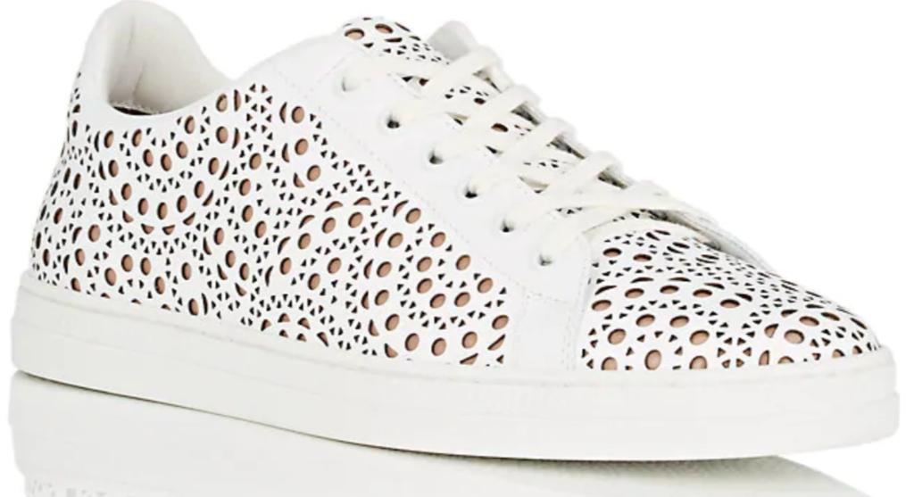 Alaia Laser-Cut Leather Sneaker