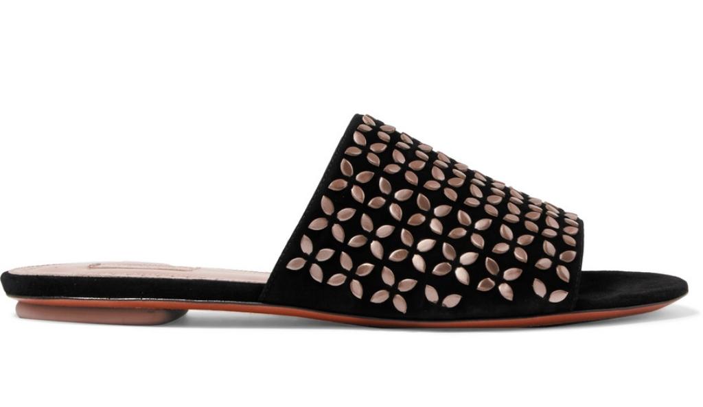 Alaïa studded slides