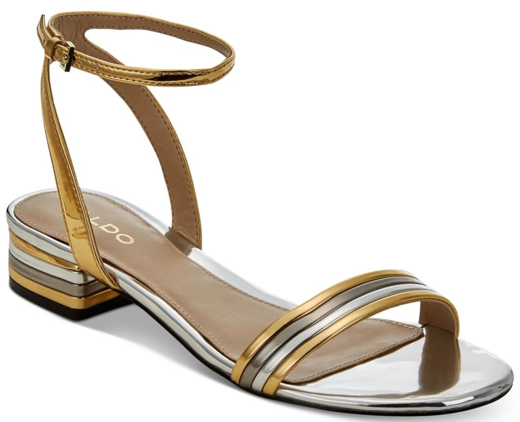 aldo Izzie Metallic Sandals