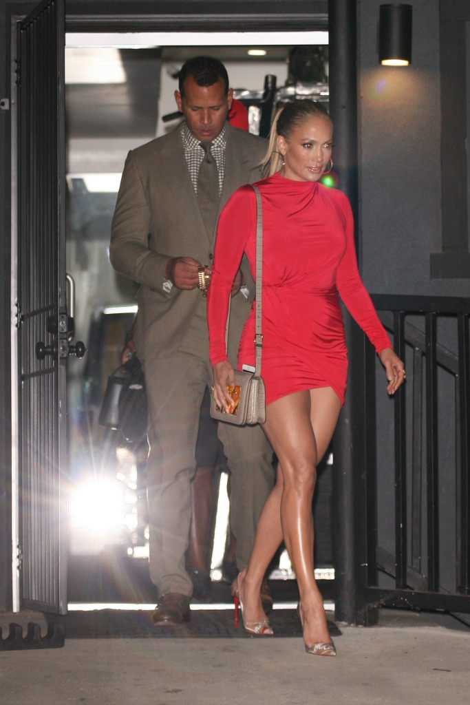 Alex Rodriguez and Jennifer Lopez Date Night