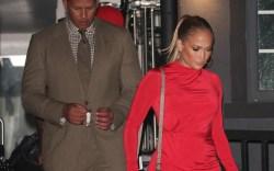 Alex Rodriguez and Jennifer Lopez on