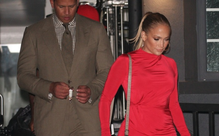 Alex Rodriguez and Jennifer Lopez on Date Night